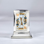 Large silver playing cards box