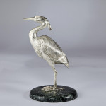 Silver model of a heron