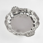 Early Victorian silver entrée dishes on warmers