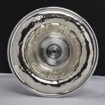 Arts & Crafts style hammered silver vase