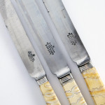 Rare suite of mammoth tooth knives & carvers