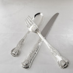 Hand-forged Kings silver cutlery