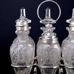 Victorian silver & crystal cruet