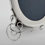 Oval Victorian silver photo frame