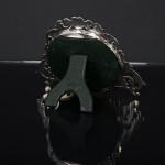 Victorian round silver photo frame