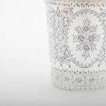 Antique hand-engraved silver beaker