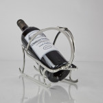 Art Deco silver-plated wine bottle cradle