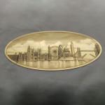 Hand-engraved London skyline