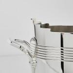 Art Deco silver-plated wine bottle holder