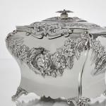 Impressive silver tea caddy
