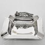 Mid-century silver fox ashtray