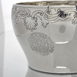 Antique hand-chased silver bowl
