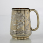 Aesthetic silver-gilt child's cup