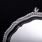 """10"""" shaped gadroon silver salver"""