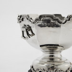 Miniature Monteith silver trophy bowl