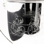 Silver trophy cup & cover of cycling interest