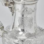 Victorian silver bachelor coffee pot