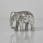 Silver model Asian elephant