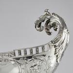 Impressive Victorian silver pedestal bowl