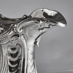Rococo silver wine ewer