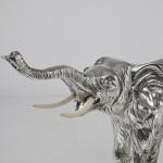 Large silver elephant