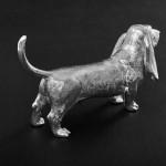 Silver model basset hound