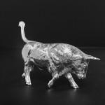 Silver model bull