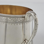 Victorian can-shaped silver tea & coffee set