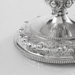 Victorian silver & glass claret jug