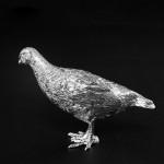 Silver model partridge hen
