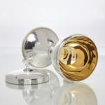 Hammered silver ciborium