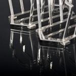Pair Art Deco silver-plated toast racks
