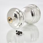 Silver capstan pepper grinder