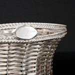 Antique silver-plated basket