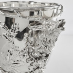 Antique continental silver wine cooler