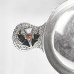 Celtic silver quaich