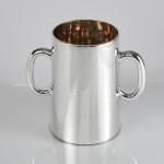 Half gallon silver beer mug