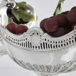 Pair antique oval pedestal dishes