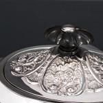 Antique tea-for-one silver teapot