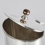 Oval silver biscuit box