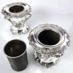 Pair antique Old Sheffield wine coolers