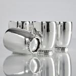 Set Georg Jensen Art Deco silver beakers