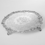 Impressive George III silver salver