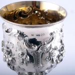 Victorian silver goblet