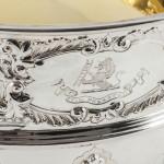 Antique Paul de Lamerie style silver rose bowl
