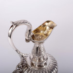 Neoclassical style silver wine jug