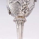 Early Victorian silver wine funnel