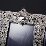 Antique triple silver photo frame