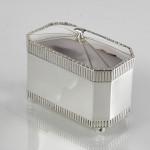 Art Deco silver tea caddy box