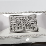 Large Indian colonial silver cigar box
